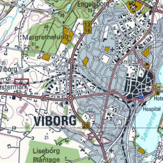 Kort Viborg Bexdyie